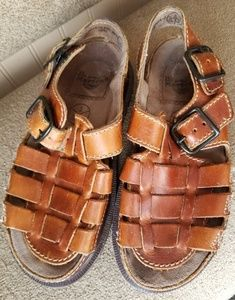 Dr. Martens leather sandals.  Size 6 brown